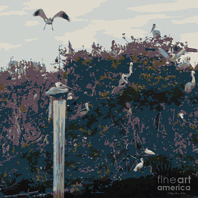 Waterbirds5 Art Print by Megan Dirsa-DuBois