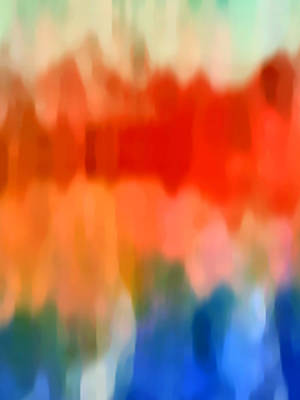 Abstract Pattern Painting - Watercolor 5 by Amy Vangsgard