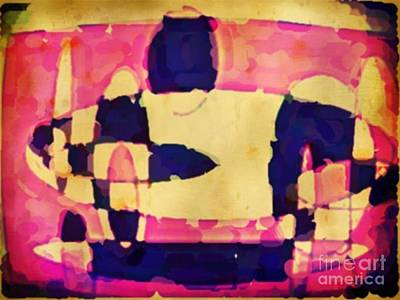 Jsm Fine Arts Halifax Digital Art - Watercolor Abstraction In Purple And Pinks by John Malone