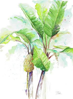 Plantain Painting - Watercolor Banana Plantain by Patricia Pinto