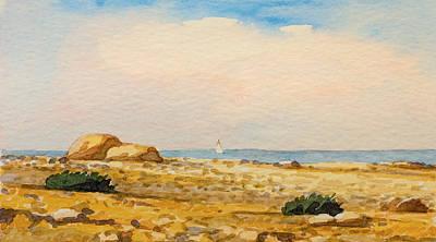 Aquarelle Painting - Watercolor Beach by Lutz Baar