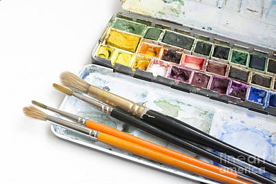 Paintbox Photograph - Watercolor Box by Christina Rahm