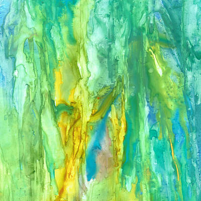 Painting - Watercolor Cascade by Rosie Brown