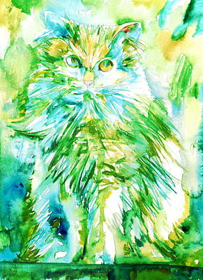 Painting - Watercolor Cat.1 by Fabrizio Cassetta