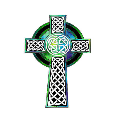 Painting - Watercolor Celtic Cross Art by Kandy Hurley