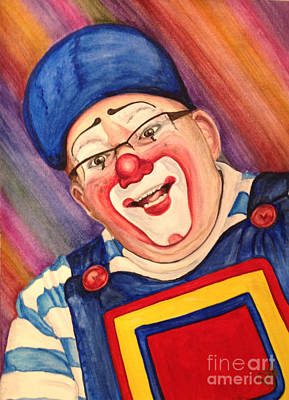 Clown Art Painting - Watercolor Clown #20 Lee Andrews by Patty Vicknair