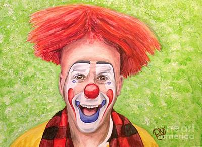 Watercolor Clown #8 Steve Copeland Original