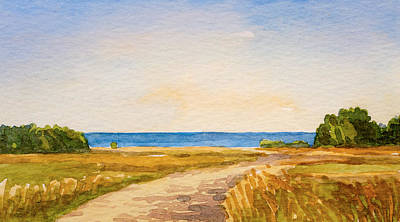 Painting - Watercolor Coast by Lutz Baar