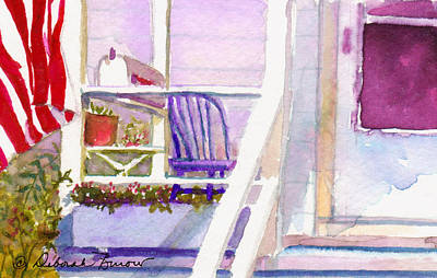 Purple Porch Art Print by Deborah Burow