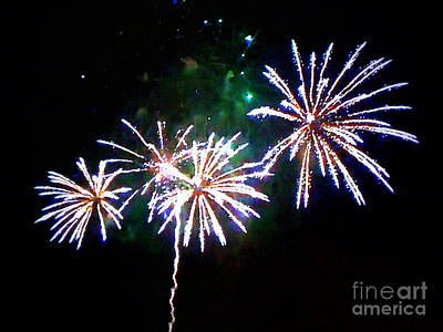 Photograph - Watercolor Fireworks by Renee Trenholm