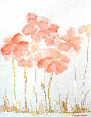 Painting - Watercolor Flower Field by Patricia Awapara