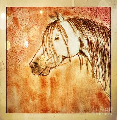 Photograph - Watercolor Horse Head - Digital Effect 1 by Debbie Portwood
