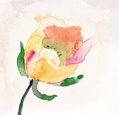 Watercolor Illustration With Beautiful Flower  Art Print