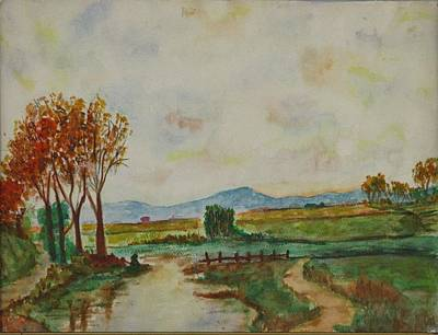 Painting - Watercolor Landscape by Michael Anthony Edwards