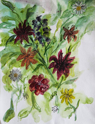 Painting - Lilies From The Garden by Lucille  Valentino