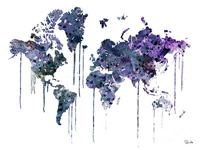 World Map Painting - Watercolor Map by Luke and Slavi