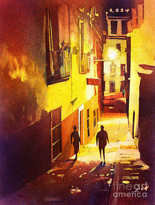 Watercolor Painting Of Guanajuato Mexico Original by Ryan Fox