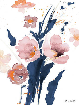 Wall Art - Painting - Watercolor Pink Poppies I by Lanie Loreth