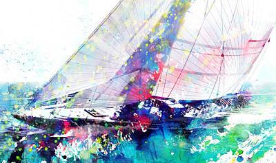 Watercolor Painting - Watercolor Sailboat by Marc Laytar
