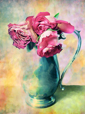 Colorful Digital Art Photograph - Watercolor Still Life by Jessica Jenney