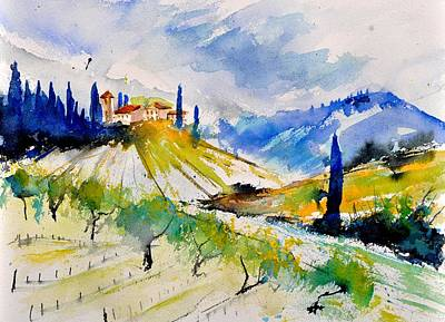 Toscana Painting - Watercolor Toscana 317040 by Pol Ledent