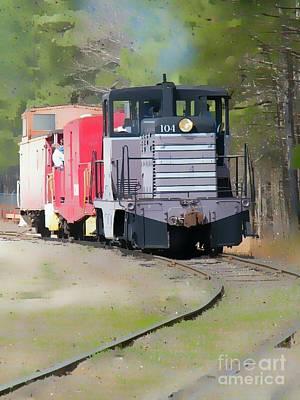 Duluth Digital Art - Watercolor Train by Cheryl Hardt Art