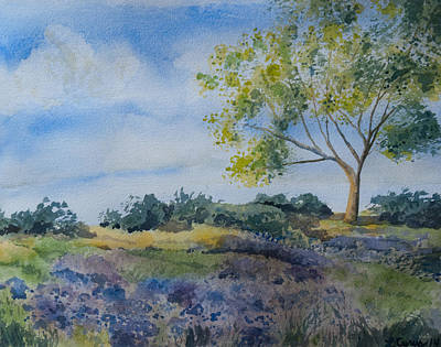 Pittsburgh According To Ron Magnes - Watercolor - Tree and Meadow by Cascade Colors