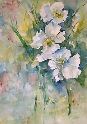 Watercolor Wild Flowers Art Print