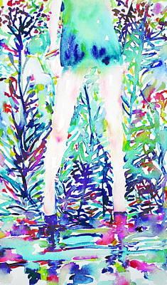 Watercolor Woman.48 Art Print by Fabrizio Cassetta
