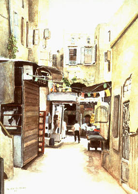 Painting - Watercolor - Zaher Bizri - Art In Lebanon - Middle East Art by Zaher Bizri