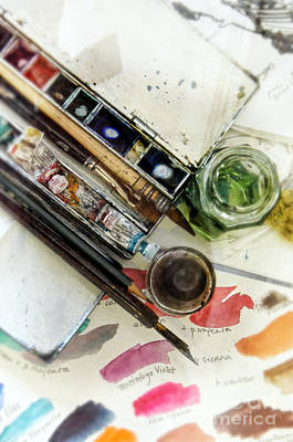 Creating Photograph - Watercolors by Jill Battaglia
