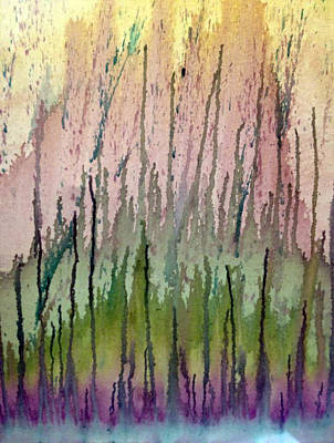 Painting - Watercolors Running by Lisa Stanley