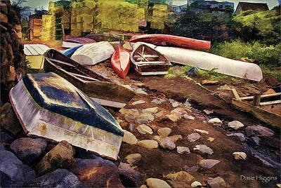 Digital Art - Watercraft Monhegan Island Maine by Dave Higgins