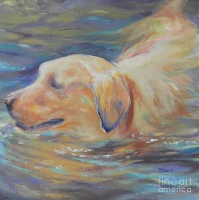 Waterdog Painting - Waterdog by Dee Duke