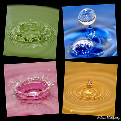 Photograph - Waterdrops by Ken Arcia