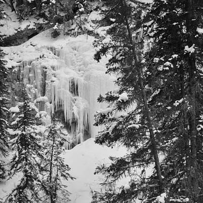Photograph - Waterfall . Icefall by Cheryl Miller