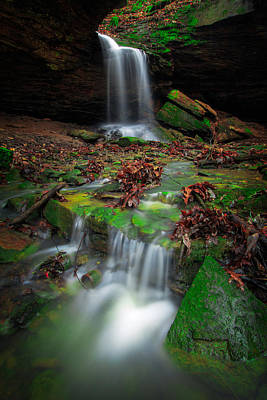 Photograph - Frankfort Mineral Springs Waterfall  by Emmanuel Panagiotakis