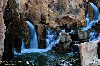 Photograph - Waterfall 2 by Richard Zentner