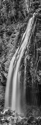 Art Print featuring the photograph Waterfall 3 Bw by Chris McKenna