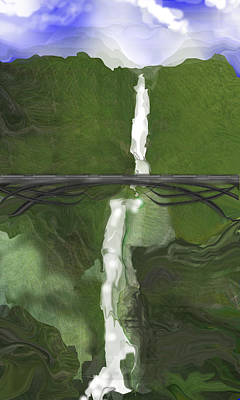 Digital Art - Waterfall Abstract by rd Erickson