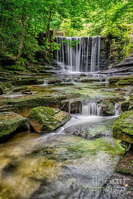 Mill Digital Art - Waterfall by Adrian Evans