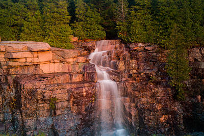 Waterfall Art Print by Allan Johnson