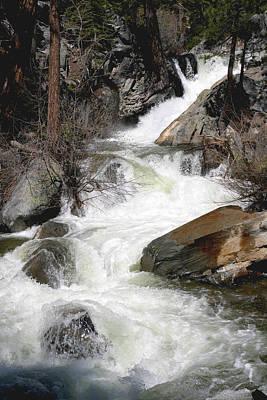 Waterfall Along The Rubicon Trail - Lake Tahoe Art Print by Patricia Sanders