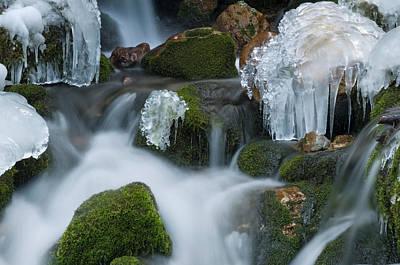 Styria Photograph - Waterfall An Ice by Thomas Aichinger - Vwpics