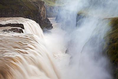 Photograph - Waterfall And Gorge Gullfoss Waterfall by Heike Odermatt