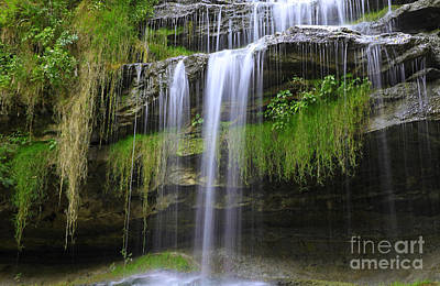 Photograph - Waterfall And Greenery by Charline Xia