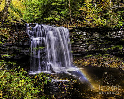 Photograph - Waterfall And Rainbow by Nick Zelinsky