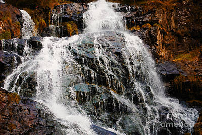 Photograph - Waterfall And Rocks by Nick  Biemans