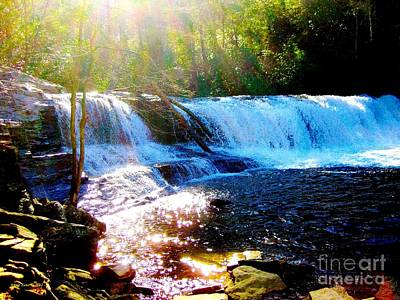 Art Print featuring the photograph Waterfall At Dupont Forest Park Nc 2 by Annie Zeno