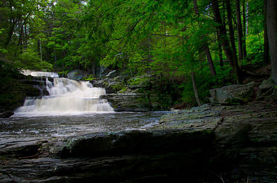 George Photograph - Waterfall At George W Childs Park by Bill Cannon